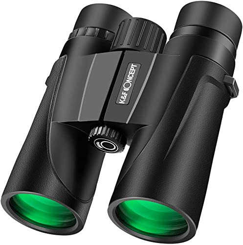 K F Concept 8 X 42 Folding High-Powered Binoculars IP68 Nitrogen Waterproof Telescope with Low Light Night Vision for Bird Watching, Outdoor Sports Games and Concerts 8 X 42 mm
