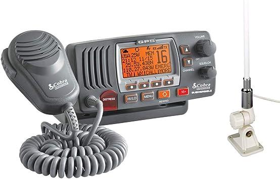 COBRA MR F77 B W GPS E Fixed VHF Marine EU Version Radio para ...