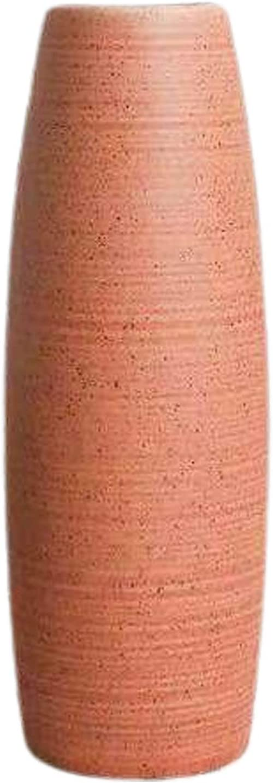 Ceramic Vase, Modern Home Decor Vase, Table Hydroponic Bottle, for Office Wedding Living Room (Orange)