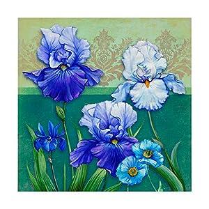 Trademark Fine Art Blue Flowers by Maria Rytova 32