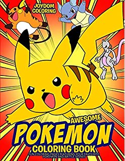 Awesome Pokemon Coloring Book Fun Pages Featuring Your Favorite And Battle Scenes