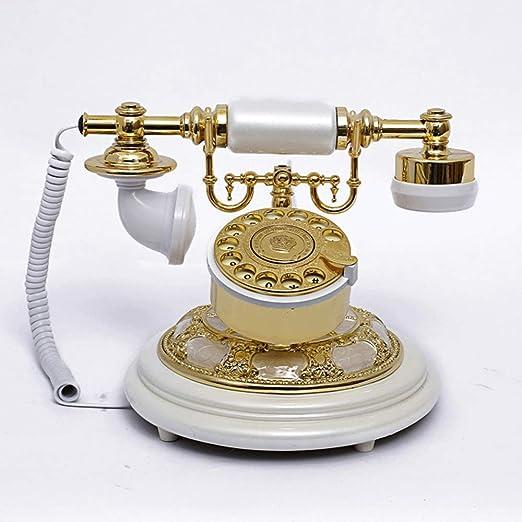 QQDIANHUA Retro Telefono Fijo Timbre Electrónico Moderno Estilo ...