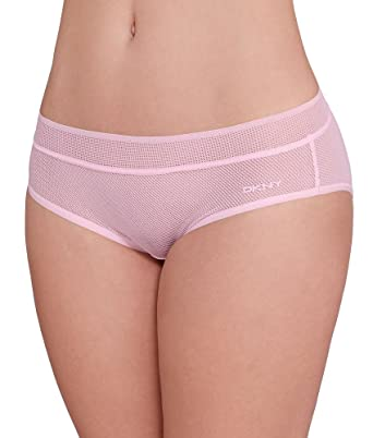 70f976cfa4a7 Image Unavailable. Image not available for. Color: DKNY Intimates Women's  Signature Bikini Sugar Pink Fishnet Underwear