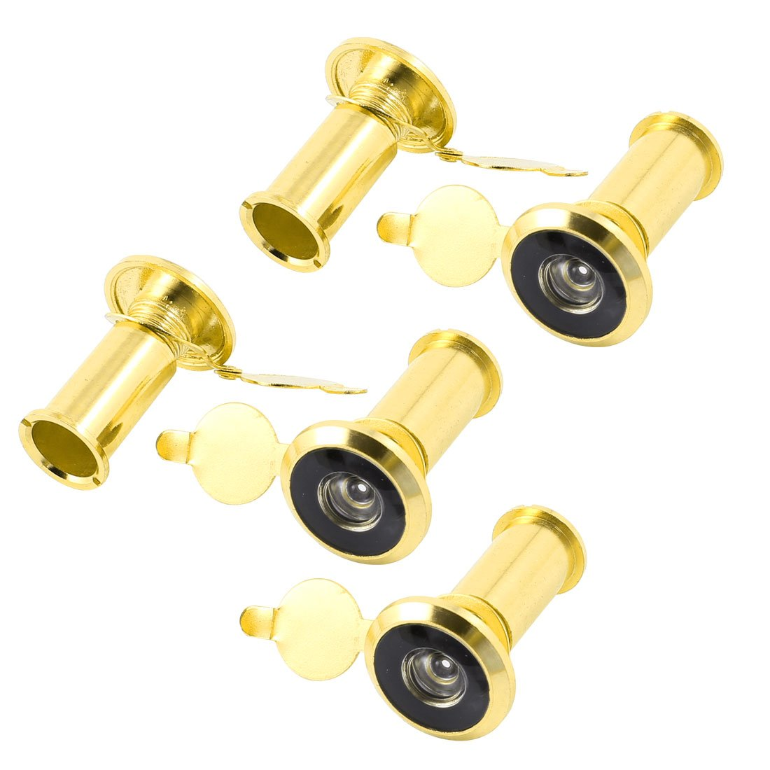 House 200 Degree Viewing Angle Door Viewer Peephole Gold Tone 5pcs Sourcingmap a14070400ux0876