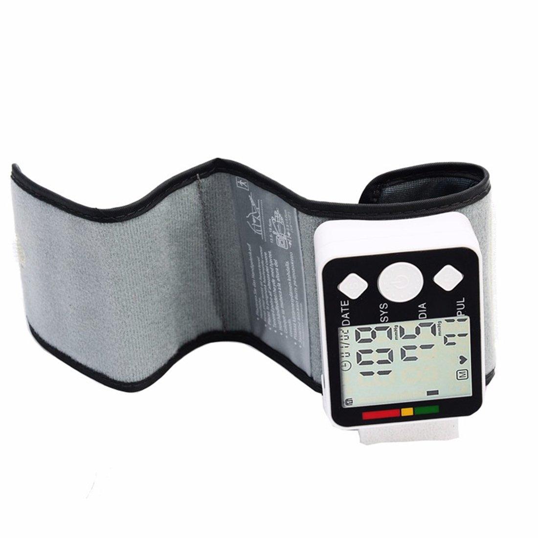 2017 - Medidor digital de muñeca monitor de presión arterial muñeca monitor de presión arterial medición salud tensiómetro automático con fecha ajuste: ...