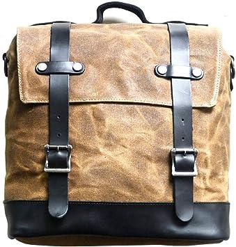 Jfzs Multifunktions Canvas Motorradtasche Seitentasche Satteltaschen Schulter Umhängetasche 1 Taschen 30 30 15 Cm Khaki Küche Haushalt