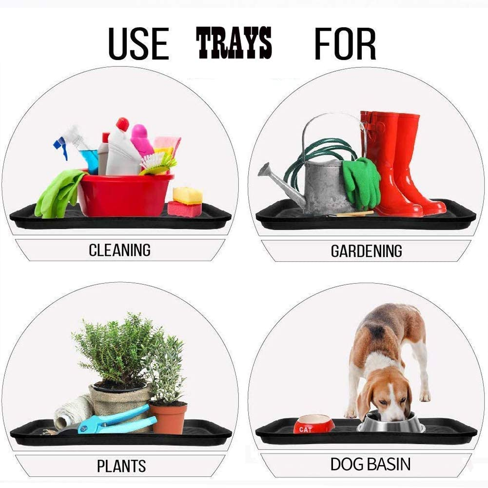 MIAOQI Boot Tray 3pcs Garden Mat Feeding Pet Tool Home Washable Storage All Purpose Accessories Shoe Wellies Cleaning Utility Tidy Plant