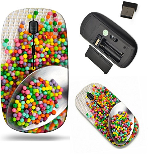 Liili Wireless Mouse Travel 2.4G Wireless Mice with USB Receiver, Click with 1000 DPI for notebook, pc, laptop, computer, mac book colorful sugar sprinkles in spoon IMAGE ID 19023