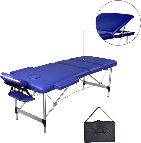Lettino Massaggio Portatile In Alluminio.Mc Dear Lettino Da Massaggi Alluminio 3 Zone Pieghevole Portatile