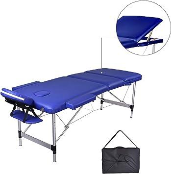 MC Dear Mesa de Masaje de Aluminio 3 Zonas Altura Ajustable ...