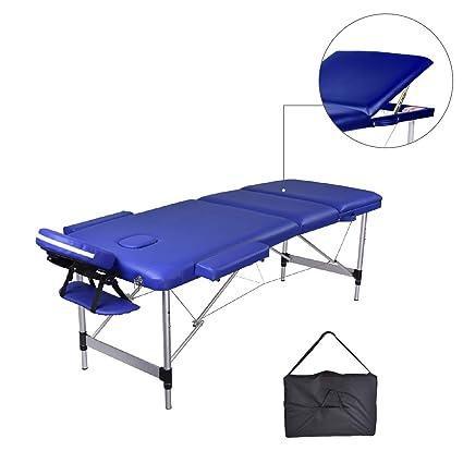 Lettino Massaggio Pieghevole Alluminio.Mc Dear Lettino Da Massaggi Alluminio 3 Zone Pieghevole Portatile Professionale Lettini Massaggi Altezza Regolabile Con Bracciolo Poggiatesta Borsa