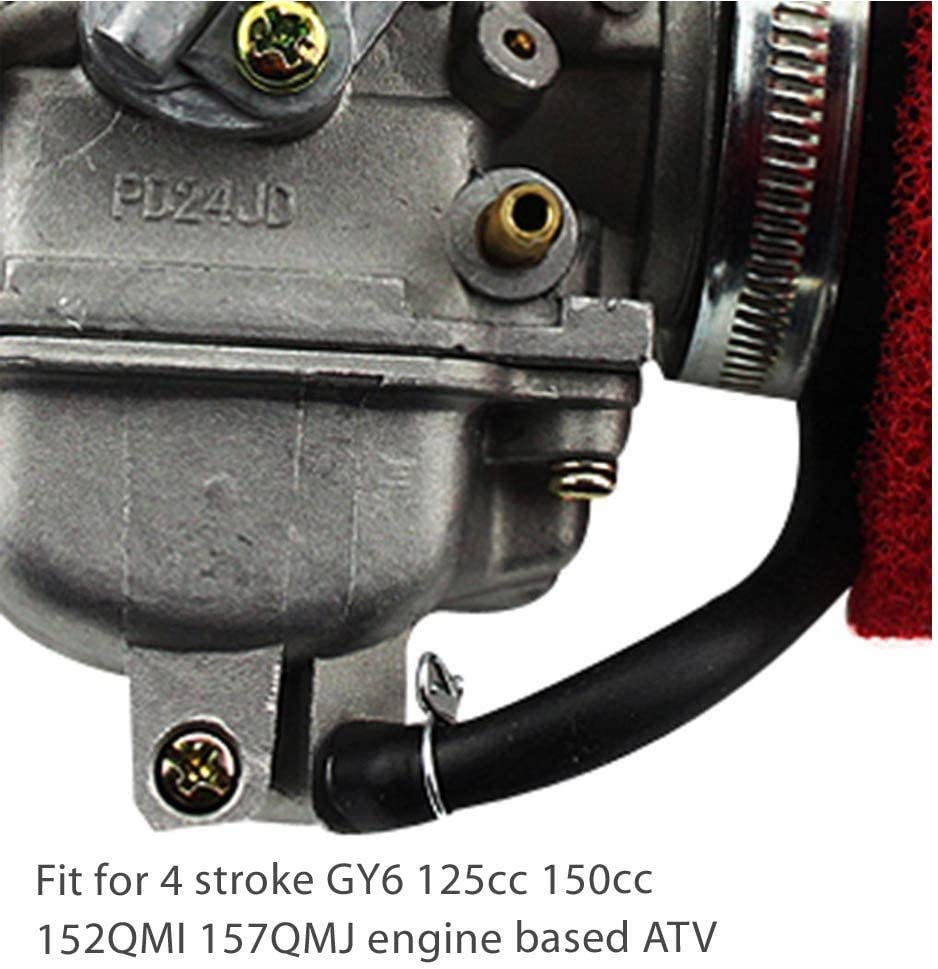 GOOFIT PD24J Performance Carburateur with filtre /à air 2 Stage Air pour Yerf Dog Spiderbox GY6 125cc 150cc Go Kart
