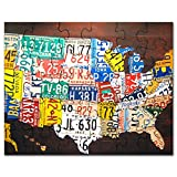 Best United States Gifts Adults - CafePress - United States License Plate Map Review