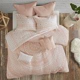 Urban Habitat Larisa 7 Piece Cotton Comforter Set Blush Full/Queen
