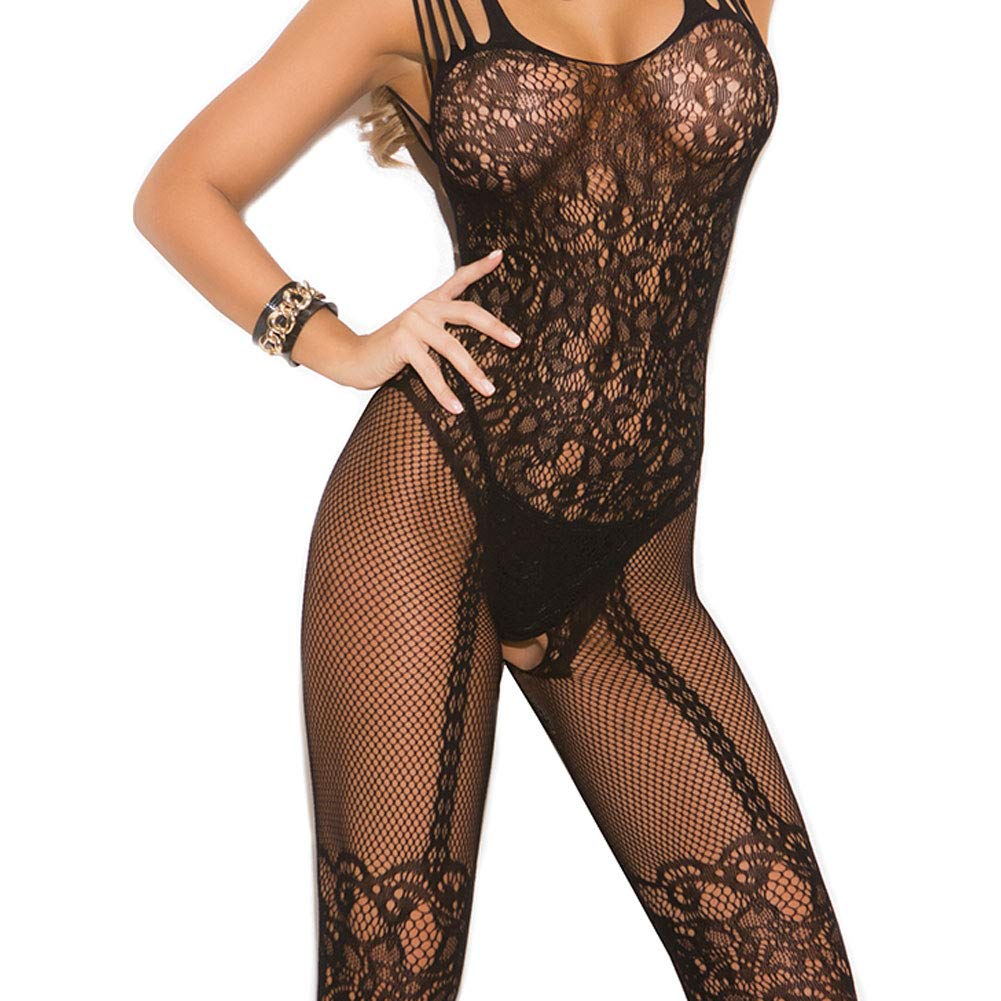 d31ea52f53 Elegant Moments EM-1689 FishnetLace Bodystocking (One Size)  Amazon.co.uk   Clothing