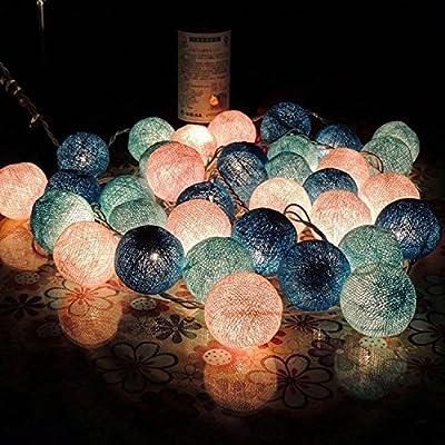 Les petits feux Led lanterne string star les chambres sont décorées des grains de riz Sepak Takraw light princess chambre romantique coréen de la batterie, le Deep Blue - 20 x 4 m - câble de donn&ea