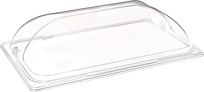Winco C-DPF1 Polycarbonate Dome Flip Cover, Full Size, Medium, Clear