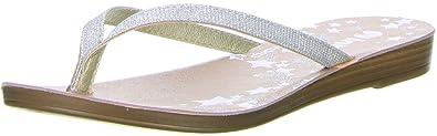 inblu Damen Zehentrenner silber, Größe:38;Farbe:Silber