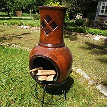 Antikas Terrazeno estufa con calor radiante, estufa para jardín, chimenea, Toluca 90: Amazon.es: Bricolaje y herramientas