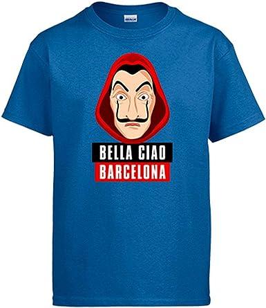 Camiseta Bella Ciao Máscara Dalí Barcelona: Amazon.es: Ropa y accesorios