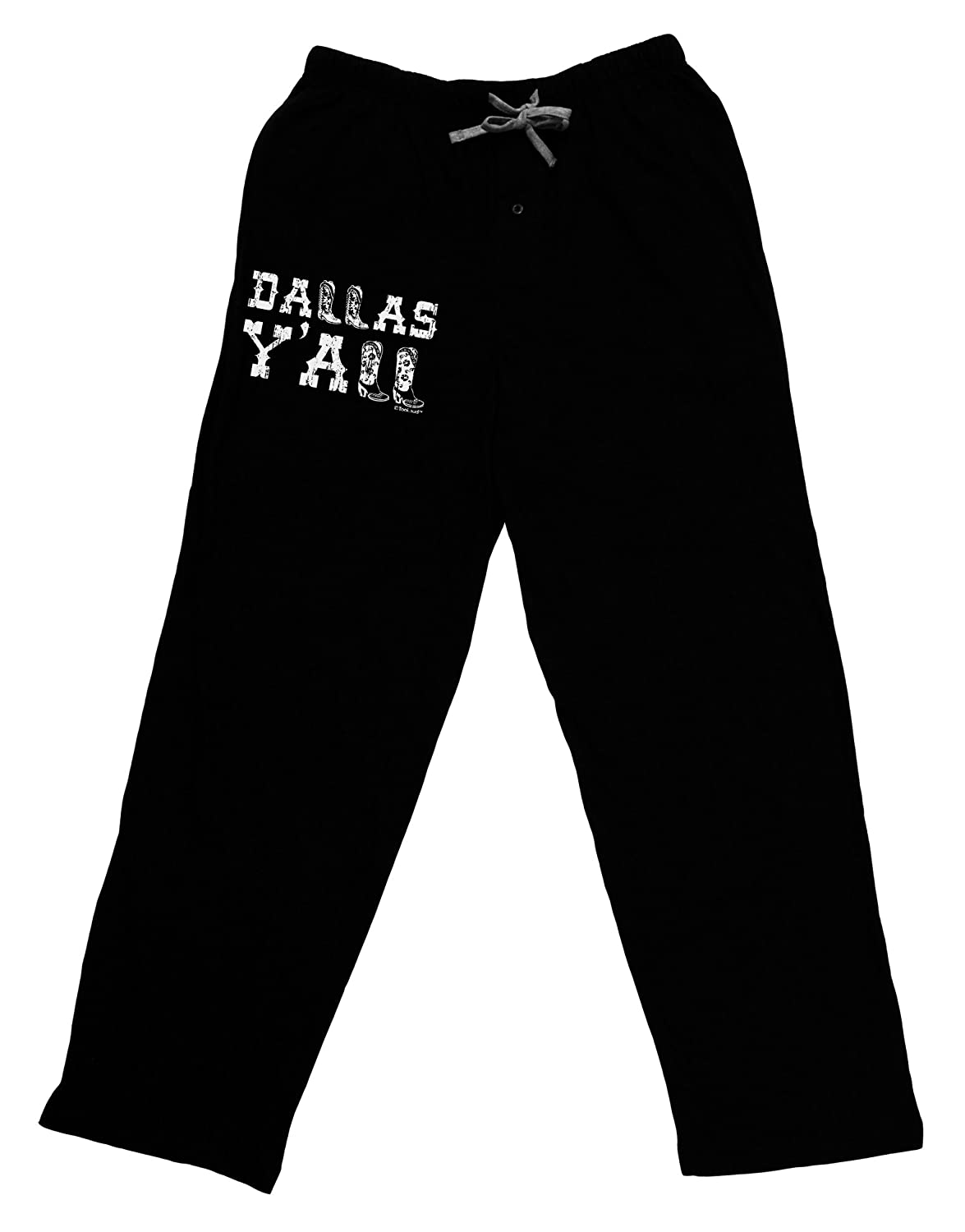 TOOLOUD Dallas Y'all - Boots - Texas Pride Adult Lounge Pants - Black UR7891W-TOLD-DRKLNGPNT-P