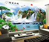 Ohcde Dheark Chinese Water Business 3D Yingkesong Tv Background Wall Paper 5D Three-Dimensional Landscape Murals In The Living Room Sofa,400Cmx280Cm(157.5 By 110.2 In )
