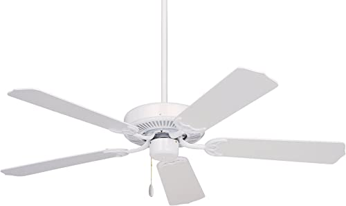Emerson Ceiling Fans CF700WW Builder 52-Inch Energy Star Ceiling Fan, Light Kit Adaptable, Appliance White Finish