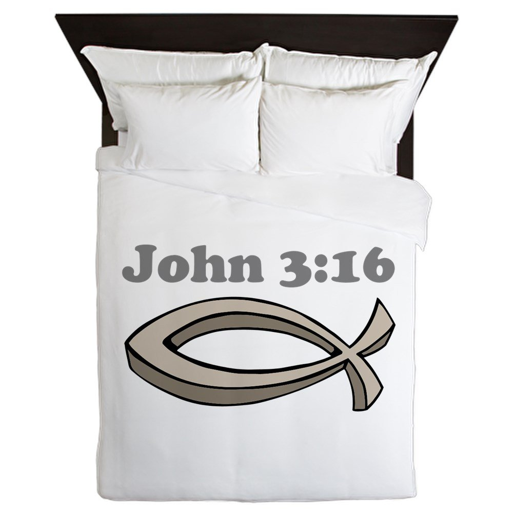 CafePress - John 316 - Queen Duvet Cover, Printed Comforter Cover, Unique Bedding, Microfiber by CafePress