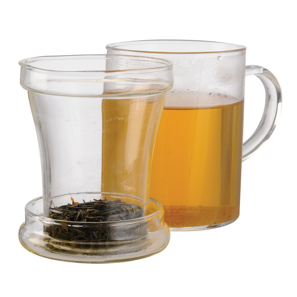 Primula Glass Mug with Loose Tea Infuser, 12-Ounce