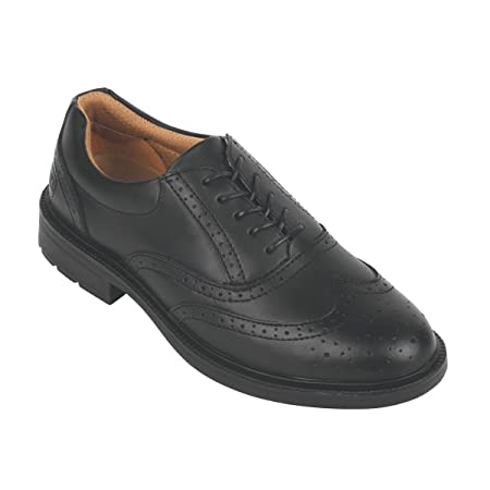 1357022224c City Knights Brogue Executive Safety Shoes Black Size 10: Amazon.co ...