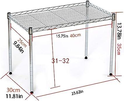 Shelf Estantería Ajustable con estantes, estantes y Patas de ...