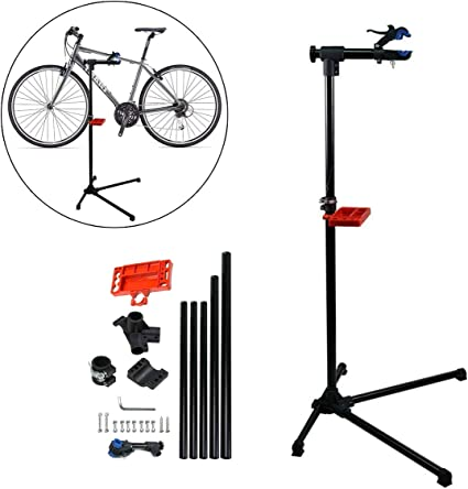Folding Adjustable Bike Bicycle Repair Stand Rack Mechanic Tool Tray included