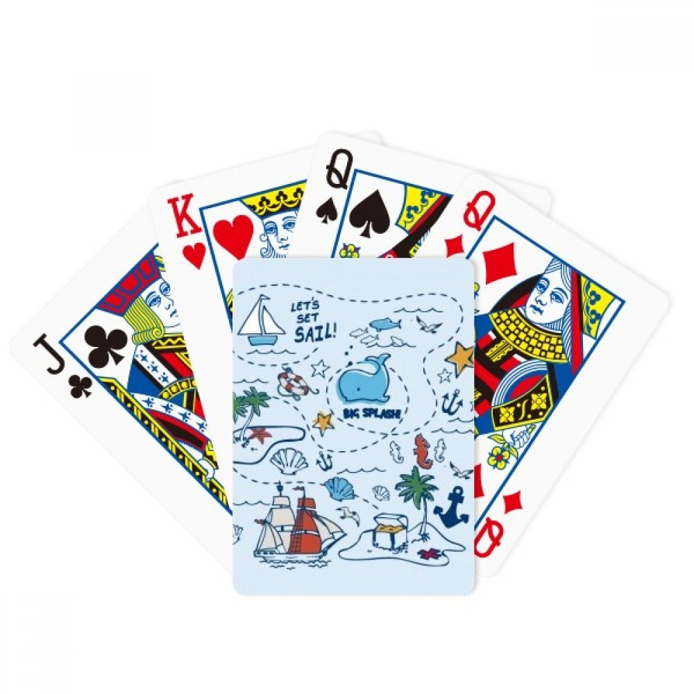 Sail Splash Travel Poker Playing Card Tabletop Board Game Gift by beatChong