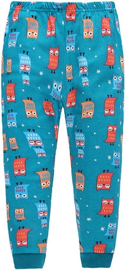 TAIYCYXGAN Boys Girls Owl Pajamas 100/% Cotton Children Christmas 2 Piece Sleepwear