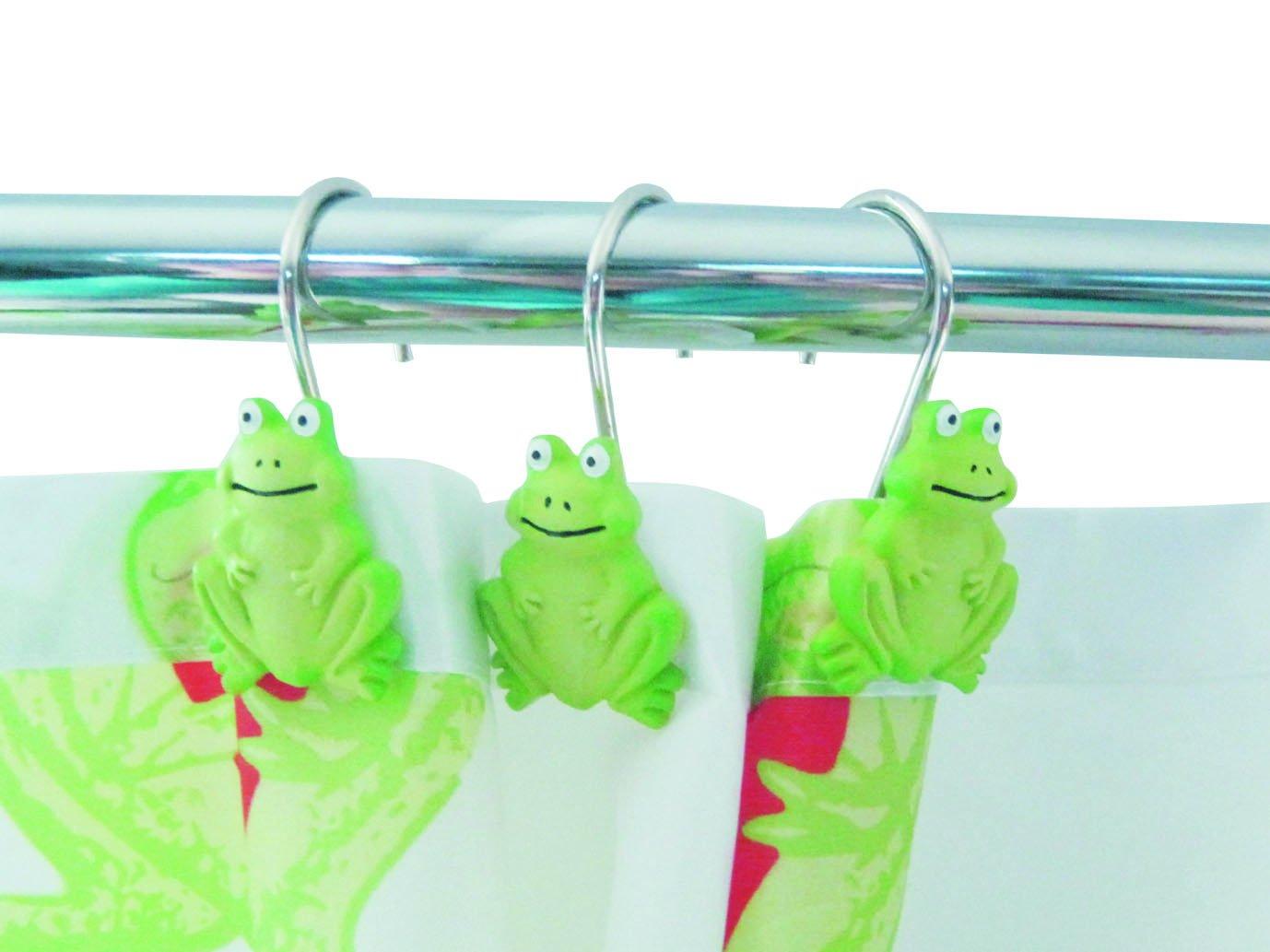 Frog bathroom set - Cheap Twofishes Green Frog Shape European Bathroom Shower Curtain Hook Curtain Rings Fashion Classic Home Design