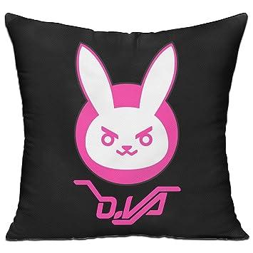 kongpao Overwatch D. Va conejo Logo Insertar y funda de almohada manta almohada: Amazon.es: Hogar