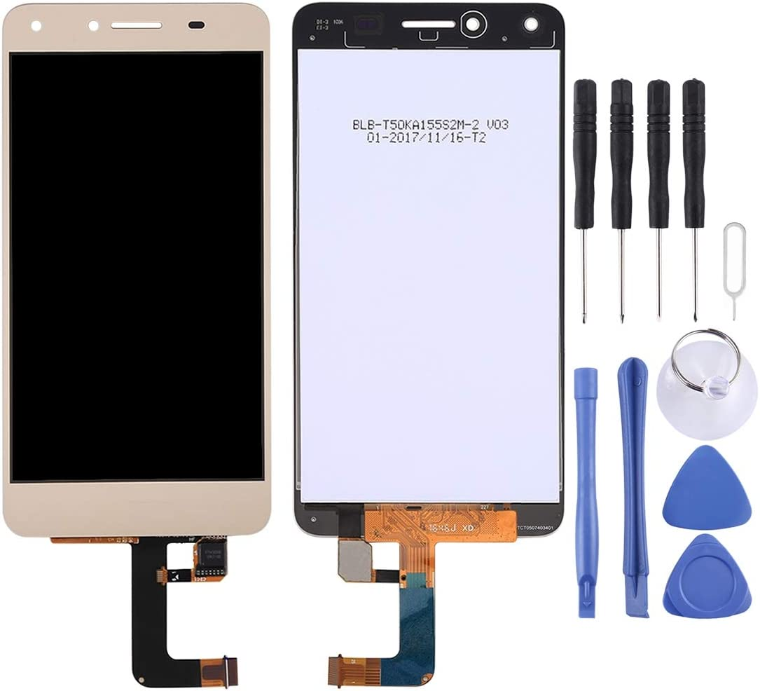 Black Smartillumi for LCD Screen Replacement LCD Screen and Digitizer Full Assembly with Frame for Huawei Honor 8C Color : Black