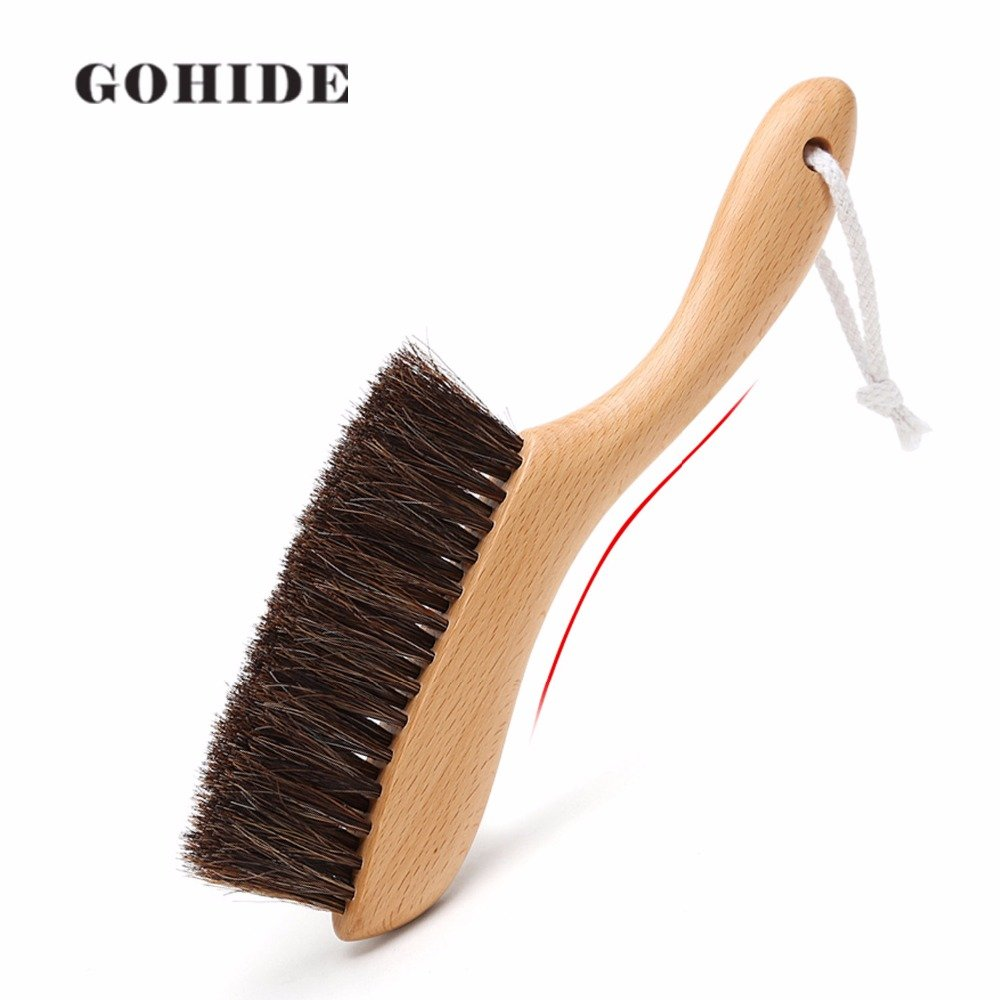 Gohide A Soft Cleaning Brush with Natural Solid Wood Handle and Natural Bristle Brush for Clothes Cleaning, Dust Hair, Sofa, Bed, Bedspread, Carpet Cleaning L:34.5cm, W:8.5cm, H:2.0cm (L) XCX by GOHIDE (Image #5)