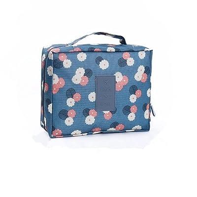 BZMC Cosmetic Bag Cosmetic Case Toilet Bag Culture Bag Makeup Bag Multi-functional Waterproof Wash Bag Travel Storage Convenient Cosmetic Bag (Blue)