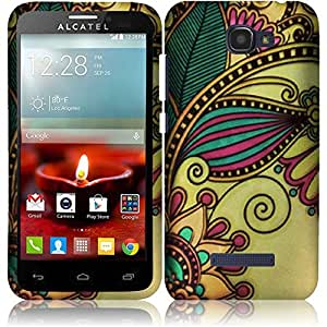 Alcatel One Touch Fierce 2 / Pop Icon A564C ( Metro PCS / T-Mobile / Straight Talk ) Phone Case Accessory Royal Flower Hard Snap On Cover with Free Gift Aplus Pouch
