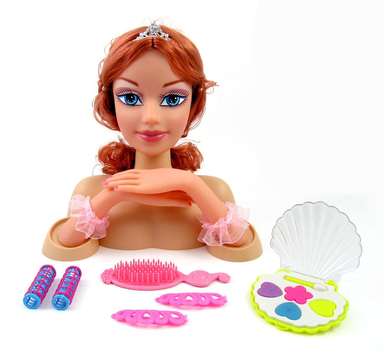 Tremendous Amazon Com Fashion Princess Styling Head Doll With Hair And Short Hairstyles Gunalazisus