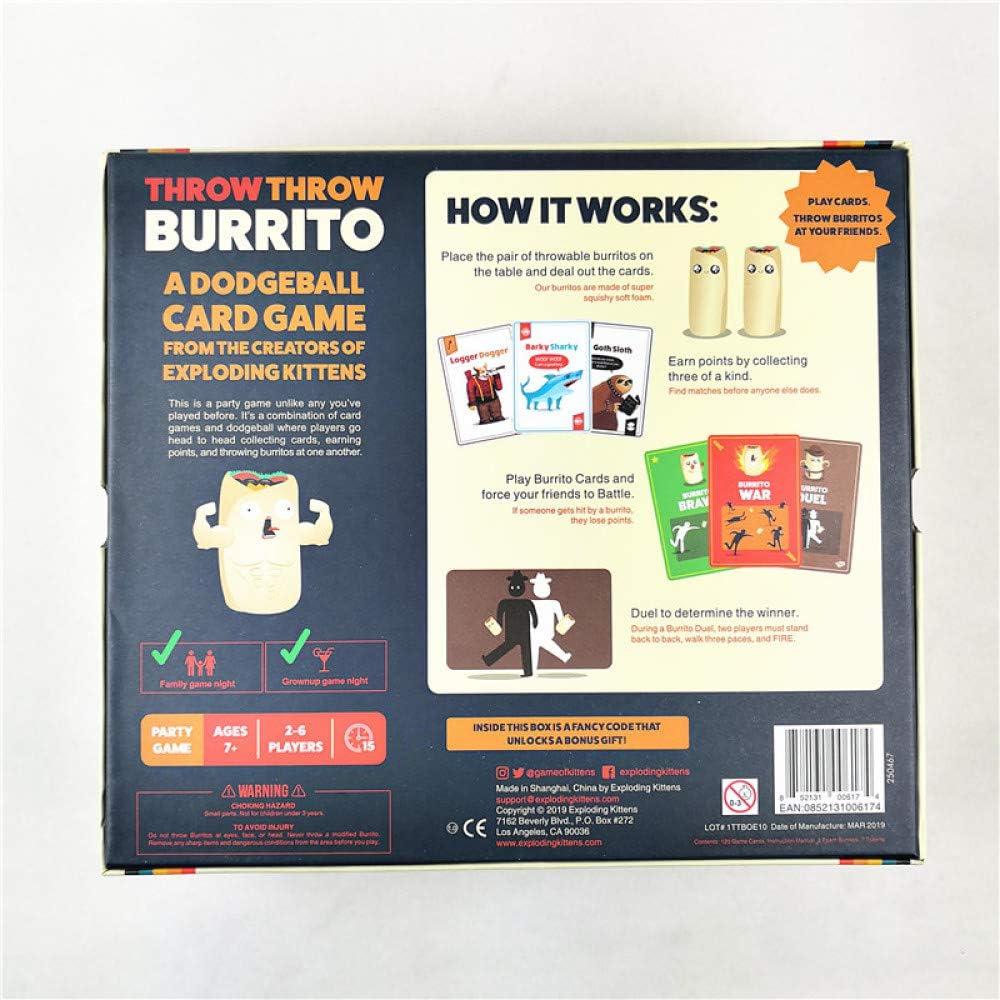 SUT Juego De Cartas, Juego De Mesa Interactivo Burrito Dodgeball ...