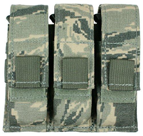 Specter Gear MOLLE/PALS Compatible Modular Triple Universal Pistol Magazine Pouch, USAF ABU Camo