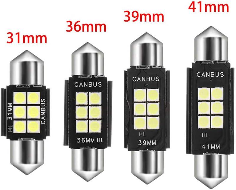 1Pc White C5W No error CANBUS Car Festoon Light Dome Lamp Reading Bulb 3030 LED