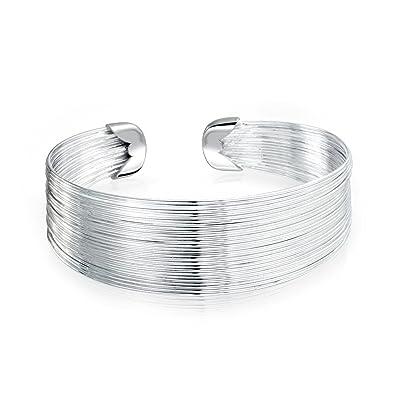 Bling Jewelry Mehradrigem dünnen Draht Armreif Armband 20mm Breit ...