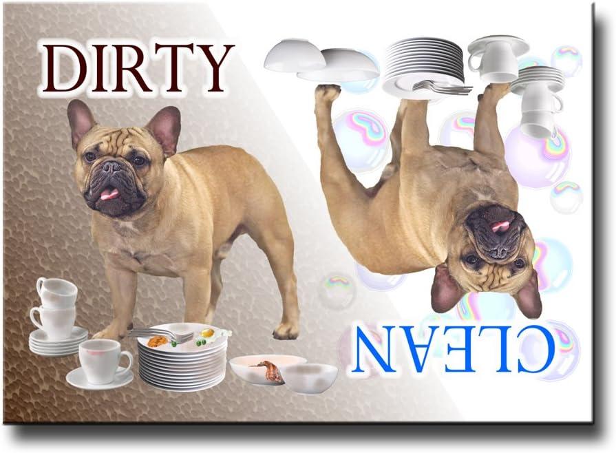 French Bulldog Clean Dirty Dishwasher Magnet No 3