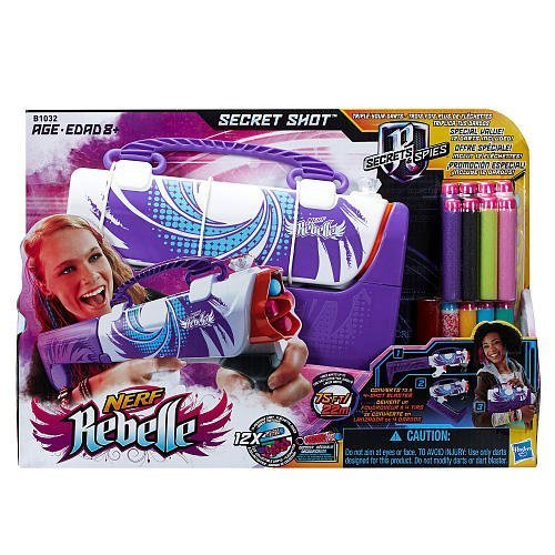 Nerf Rebelle Secret Shot Blaster, Purple with extra darts