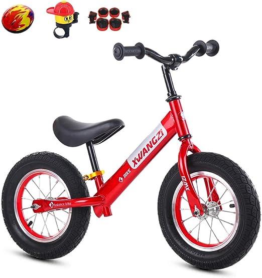 shuhong Bicicleta Sin Pedales con Equipo De Protección Rueda Neumática/Rueda EVA Capacidad De 110 Libras Edades 2 A 6 Años,F: Amazon.es: Hogar