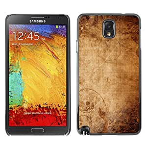 Qstar Arte & diseño plástico duro Fundas Cover Cubre Hard Case Cover para SAMSUNG Galaxy Note 3 III / N9000 / N9005 ( Wallpaper Ancient Old Paper Canvas Art)
