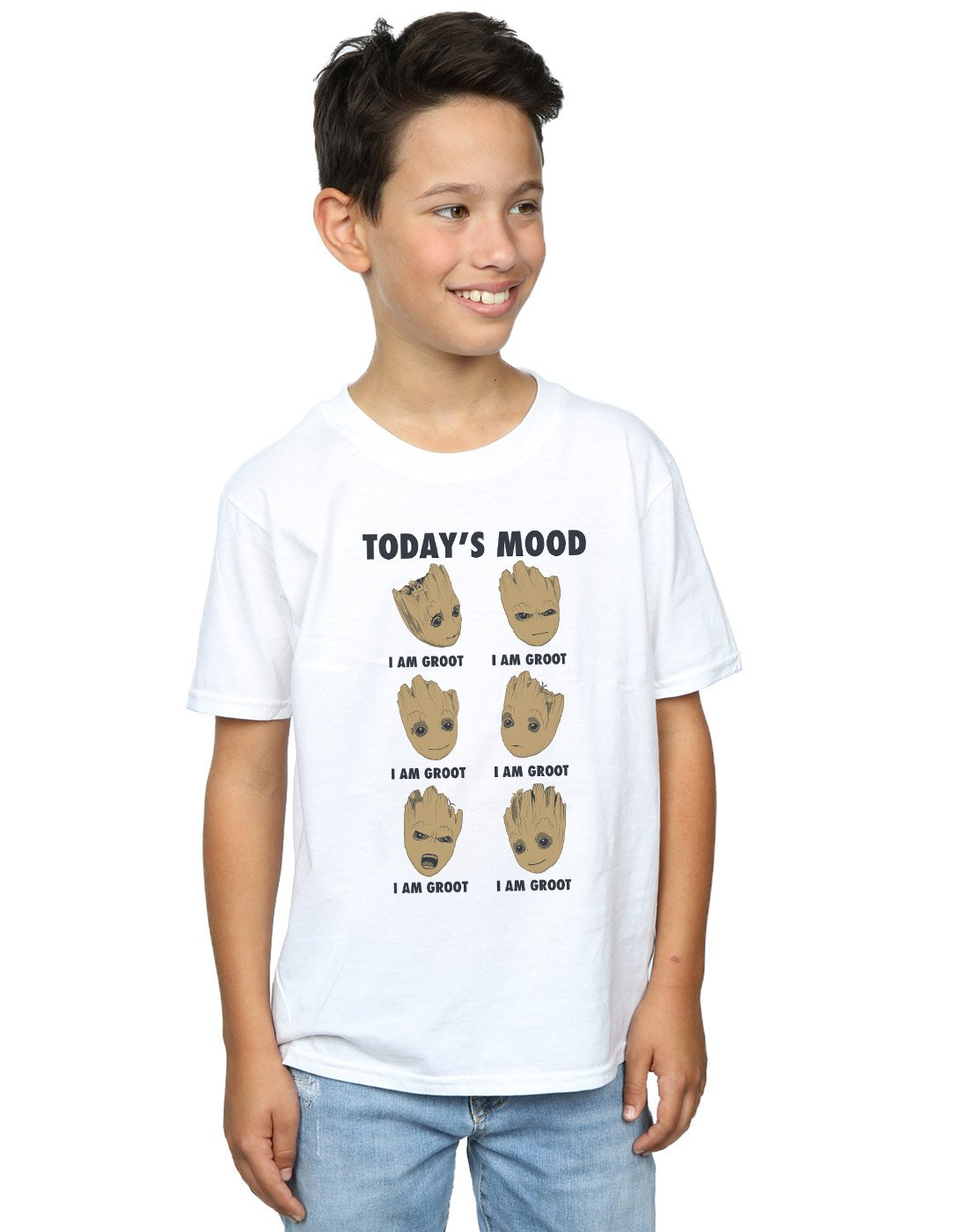 Marvel Boys Guardians of The Galaxy Groot Today's Mood T-Shirt Absolute Cult